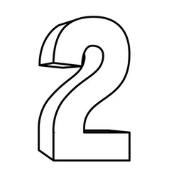 figure number two icon vector image