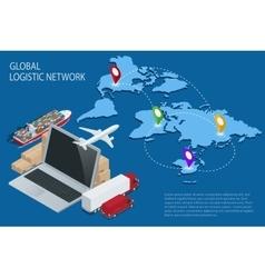 Global logistics Global logistics network vector image vector image