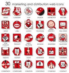 marketing and distribution web icons vector image vector image