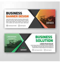 Modern corporate banner background vector