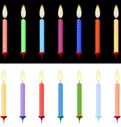 Set of burning candles for the holiday vector image