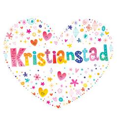 kristianstad city in sweden vector image