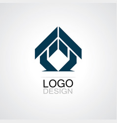 triangle house business logo vector image