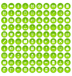 100 company icons set green circle vector