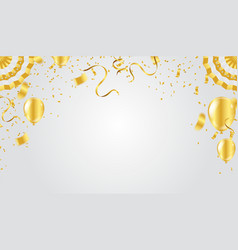 Abstract background and party balloons vector