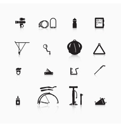 Accessories for bicycle vector