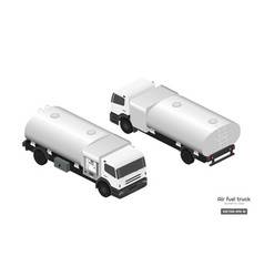 air fuel truck in isometric style vector image