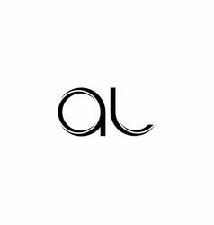 Al logo monogram with slice rounded modern design vector