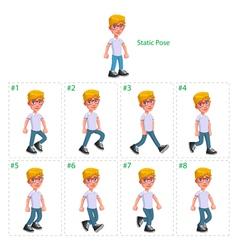 Animation of boy walking vector