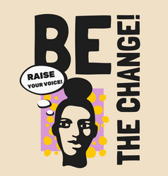 Be chance pop style poster vector