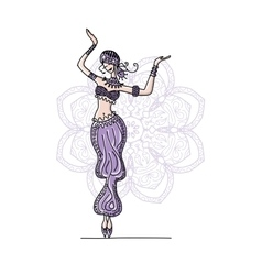 Belly dancer sketch for your design vector
