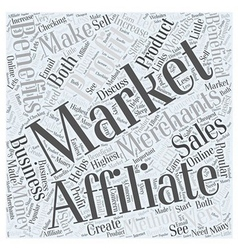 Benefits of Affiliate Marketing Word Cloud Concept vector image