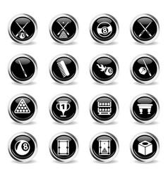 Billiard icon set vector