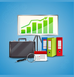 business realistic concept vector image