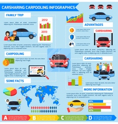 Carsharing Carpooling Infographics vector
