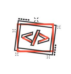 Cartoon open source icon in comic style api vector