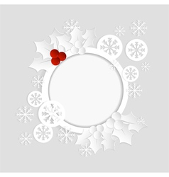 christmas card paper template vector image