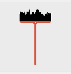 city landscape on the mop vector image