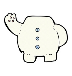 Comic cartoon polar bear body mix and match comic vector
