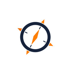 Compass logo design template vector