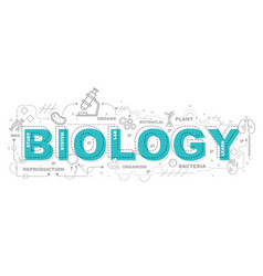 Creative biology with line icon vector