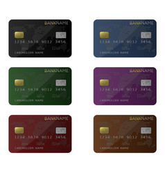 credit card set vector image