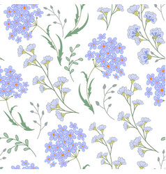 Cute seamless floral pattern with flowers vector