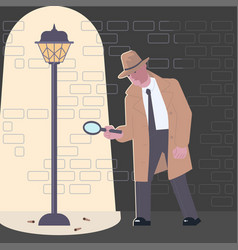 detective character at crime scene vector image