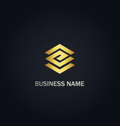 e shape line initial company logo vector image