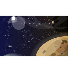 Endless space cosmos flat vector