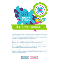 exclusive products best price spring label flower vector image