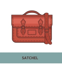 Fashion bag isolated on white vector