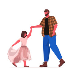 father dancing with dughter ballet lesson vector image