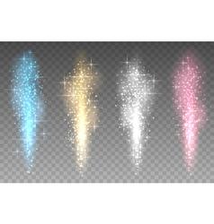 Fireworks lights transparent background Bright vector
