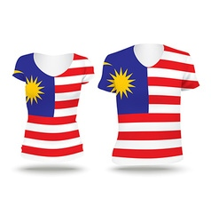 Flag shirt design of Malaysia vector