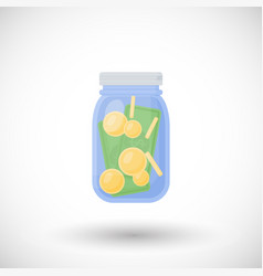 flat icon of money jar vector image