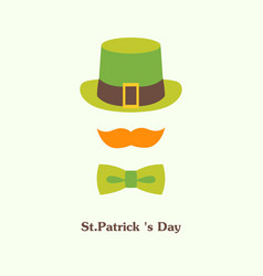 flat icon on patricks day vector image