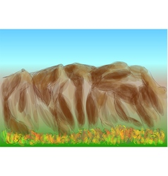 Forest rock vector