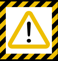 hazard sign exclamation warn caution construction vector image