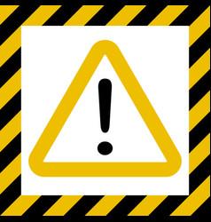Hazard sign exclamation warn caution construction vector