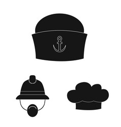 headgear and cap sign set vector image