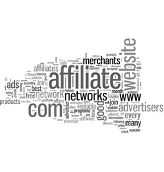 How to find profitable affiliate programs vector