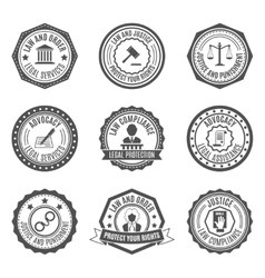Law labels set vector image