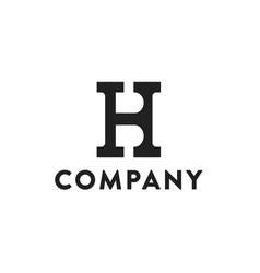letter hb initial logo design vector image