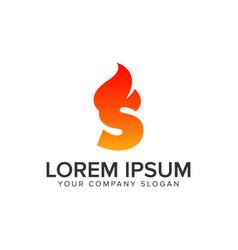 letter s ignition flame logo design concept vector image