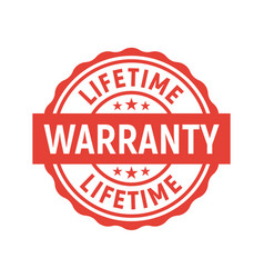 lifetime warranty limited stamp round tag vector image