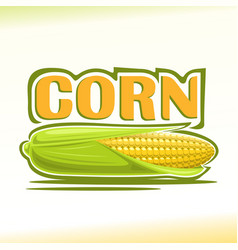 Logo for corn vector
