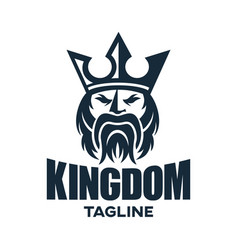 modern king and kingdom logo design vector image