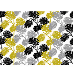 modern seamless pattern with gray black and gold vector image