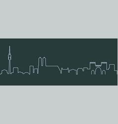 Munich single line skyline vector